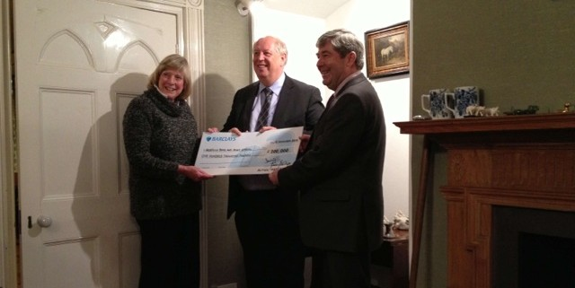 cheque for new building.ashx